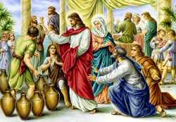 Miracle at wedding feast in Cana