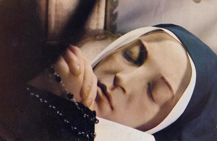Undecayed body of St Bernadette